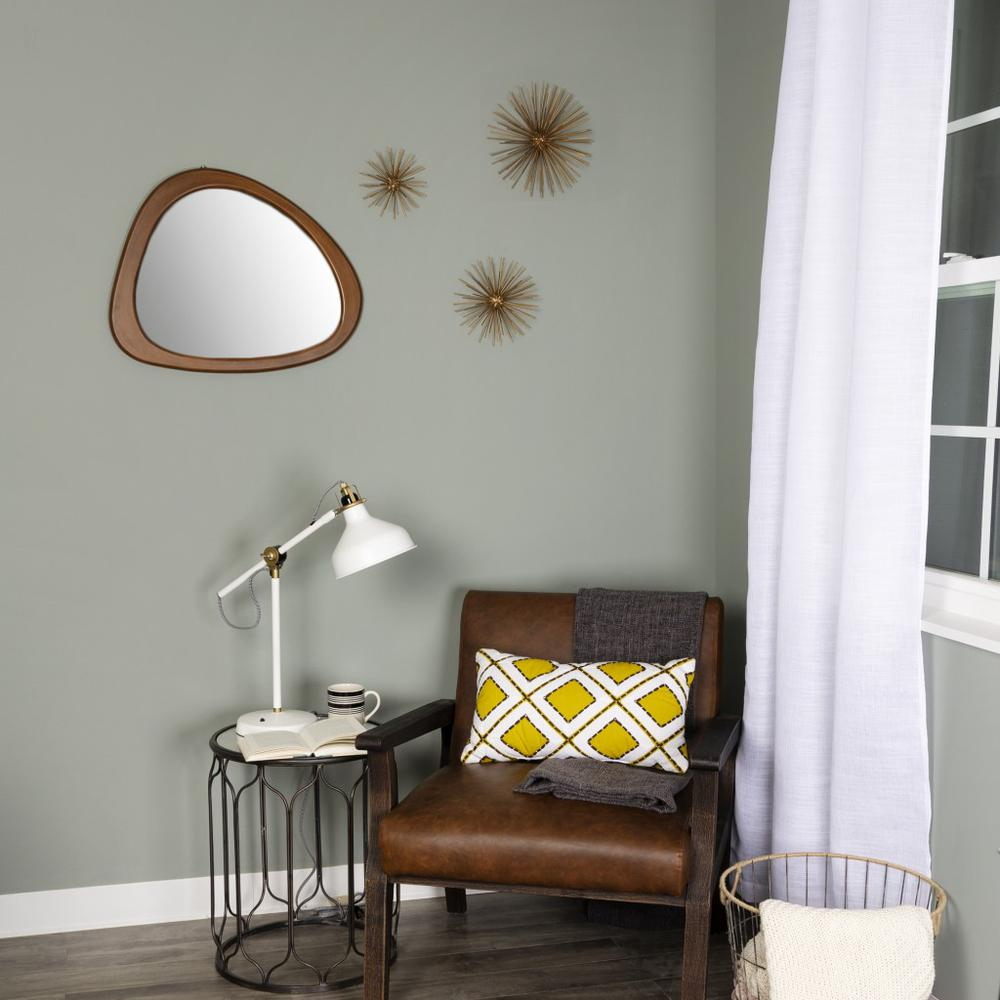 Asymmetrical Wooden Wall Mirror - 383228. Picture 6