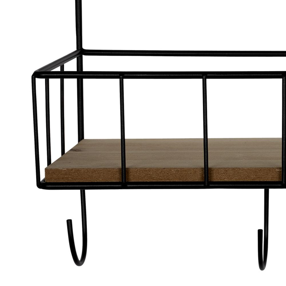 Coffee Bar Metal and Wood Wall Shelf - 383231. Picture 3