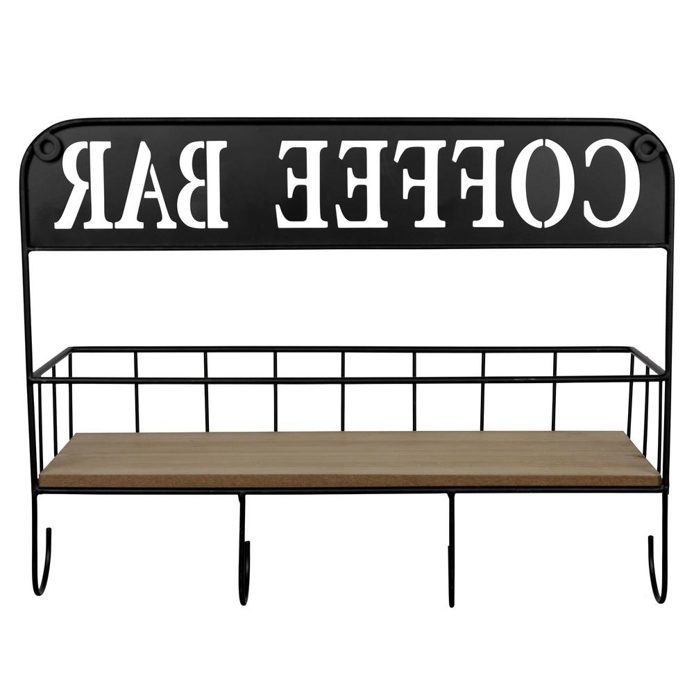 Coffee Bar Metal and Wood Wall Shelf - 383231. Picture 5