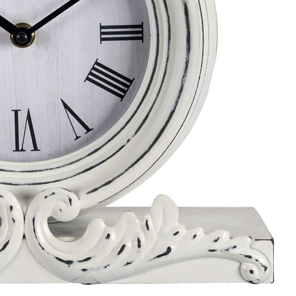 Vintage Look White Distressed Table Clock - 383234. Picture 3