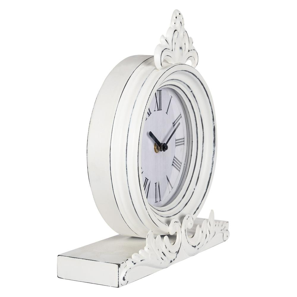 Vintage Look White Distressed Table Clock - 383234. Picture 7