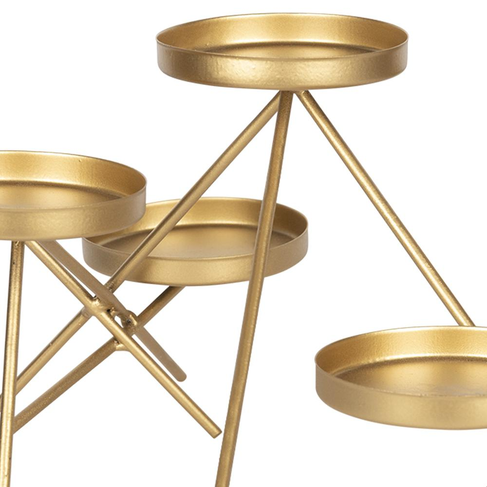 Gold Metallic Candle Holder - 383237. Picture 3