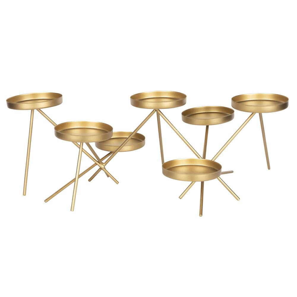 Gold Metallic Candle Holder - 383237. Picture 5