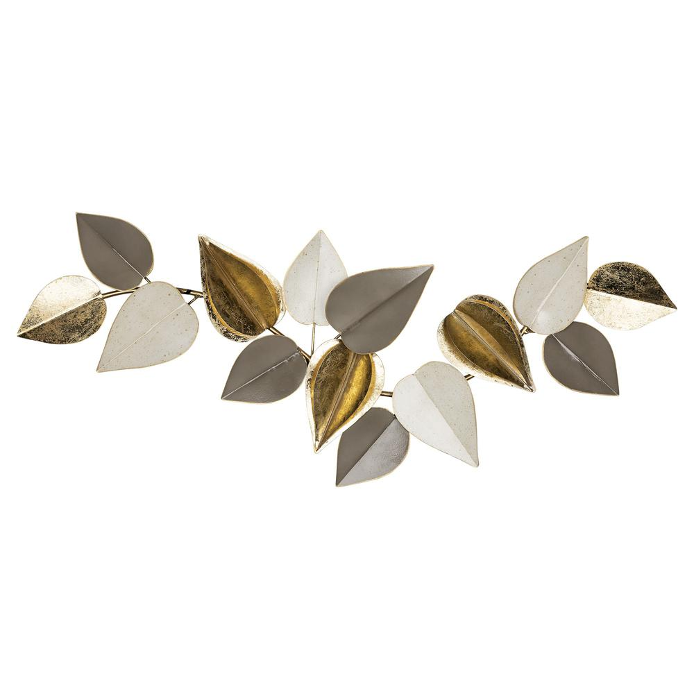 Metal Leaves Modern Centerpiece - 383239. Picture 1