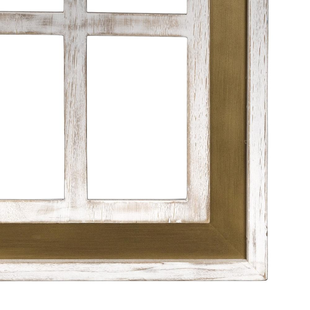 Distressed White and Gold Cathedral WindowWall Decor - 383243. Picture 3