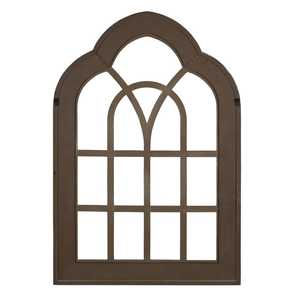 Distressed White and Gold Cathedral WindowWall Decor - 383243. Picture 5