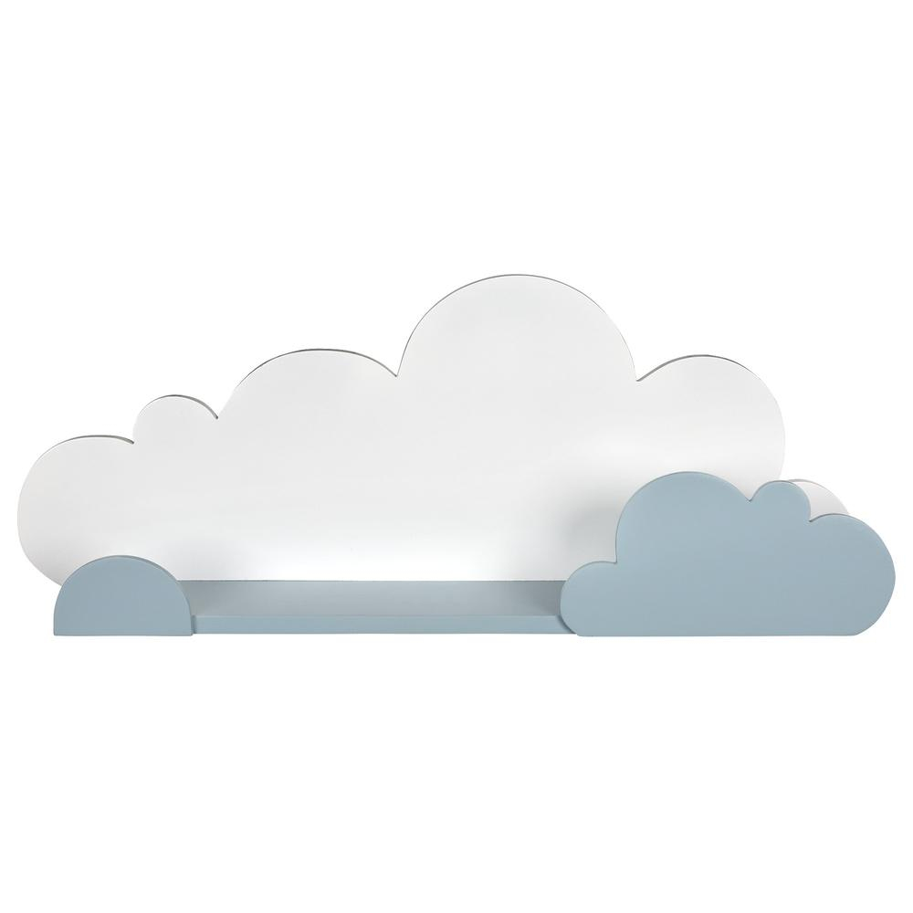 Blue and White Cloud Wall Shelf - 383245. Picture 1