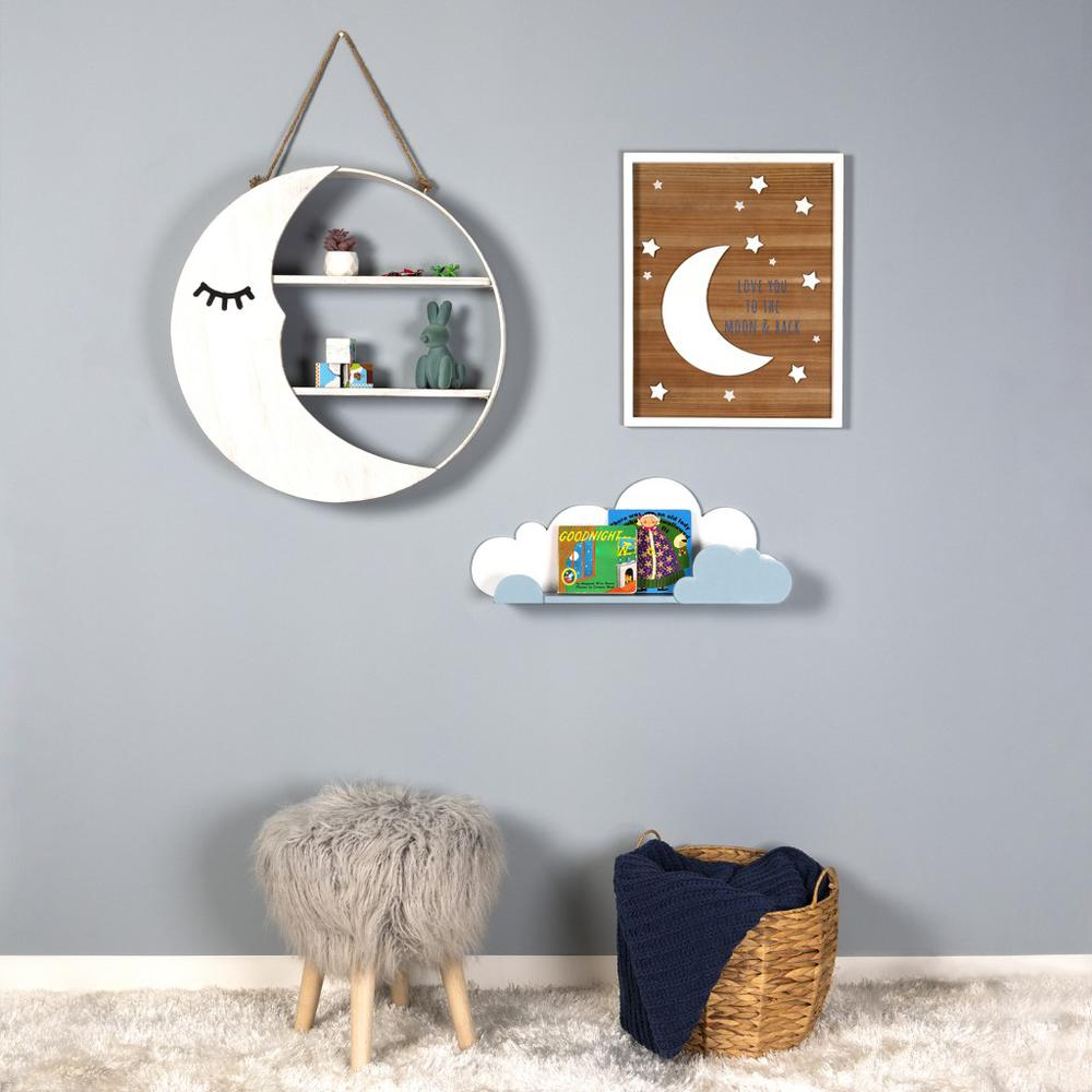 Blue and White Cloud Wall Shelf - 383245. Picture 2