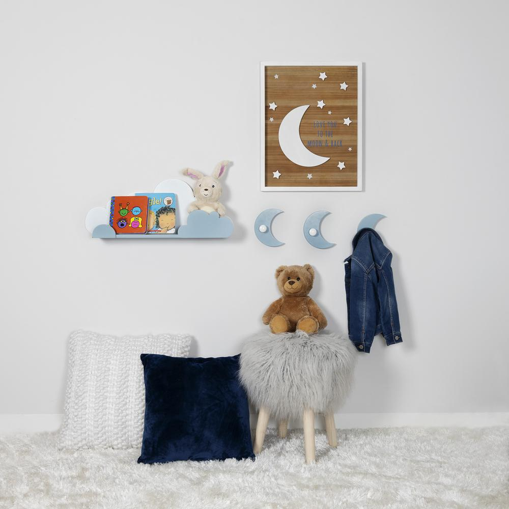 Blue and White Cloud Wall Shelf - 383245. Picture 5