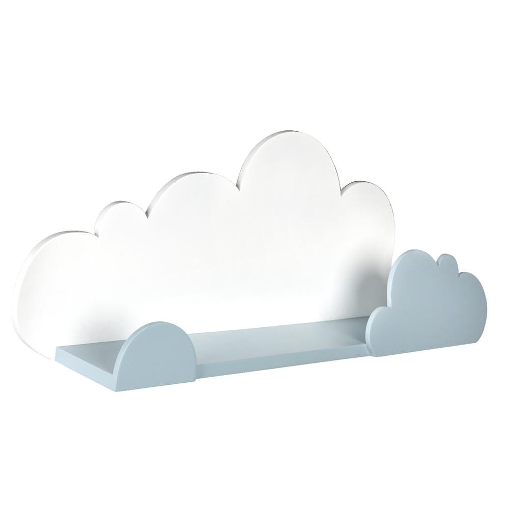 Blue and White Cloud Wall Shelf - 383245. Picture 6