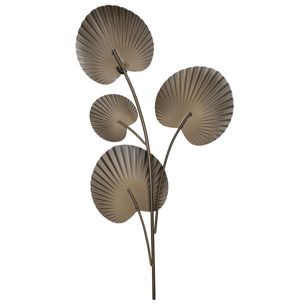 White Shell Leaves Metal Wall Decor - 383247. Picture 5