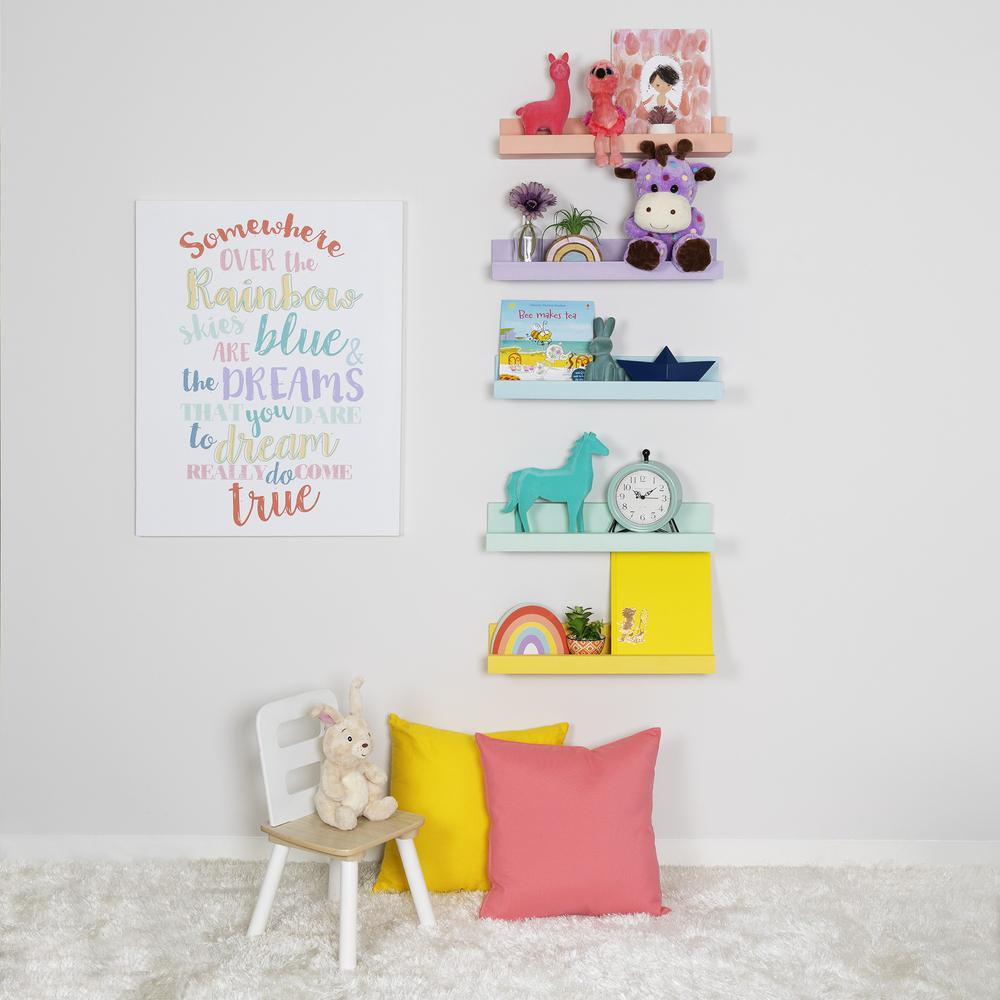 Bright Yellow Floating Shelf - 383251. Picture 2