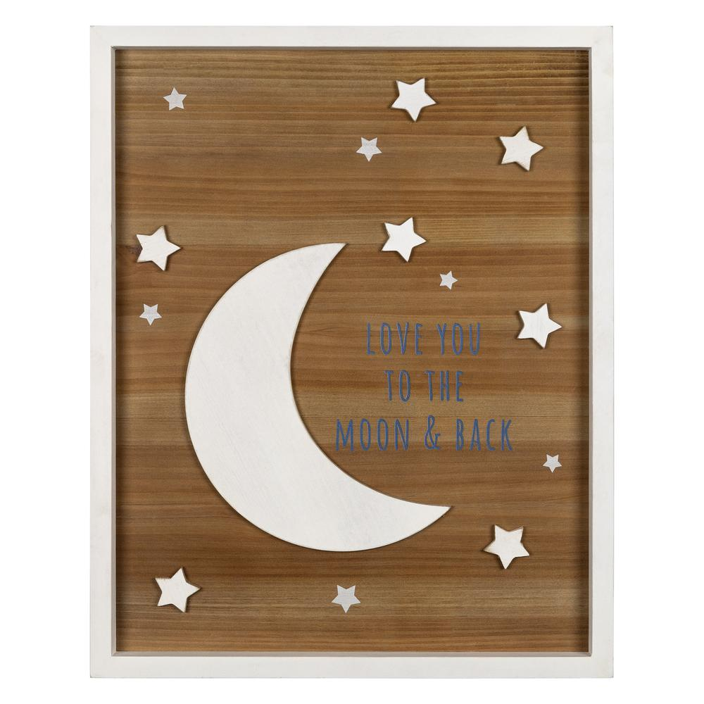 Love You to the Moon Wooden Wall Art - 383254. Picture 1