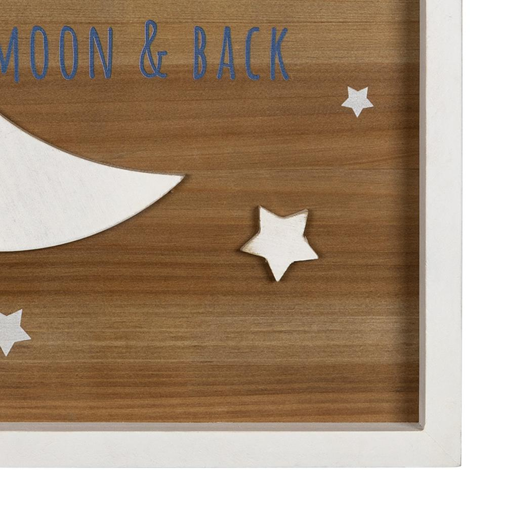 Love You to the Moon Wooden Wall Art - 383254. Picture 3