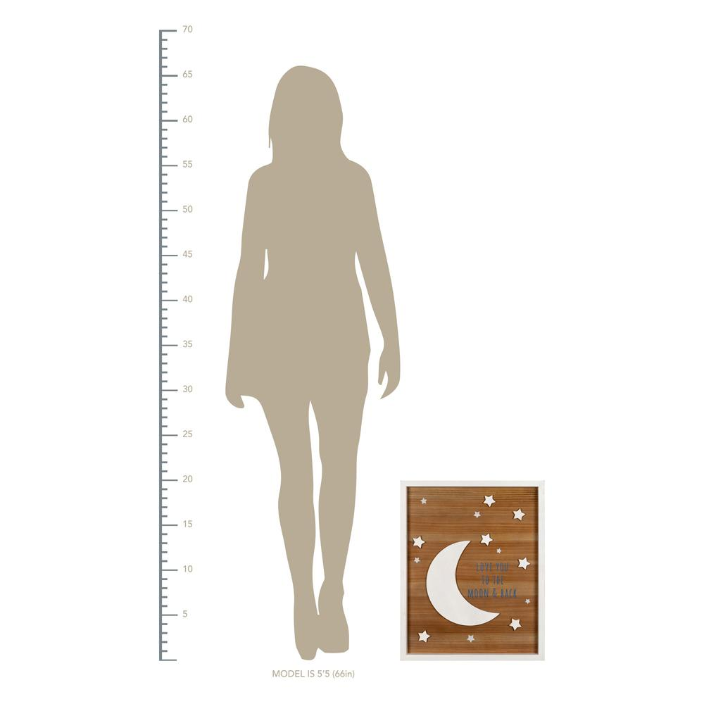 Love You to the Moon Wooden Wall Art - 383254. Picture 4