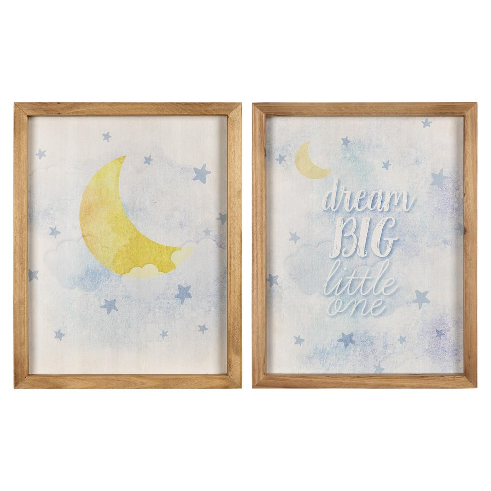 Dream Big Little One Wooden Wall Art Set - 383257. Picture 1