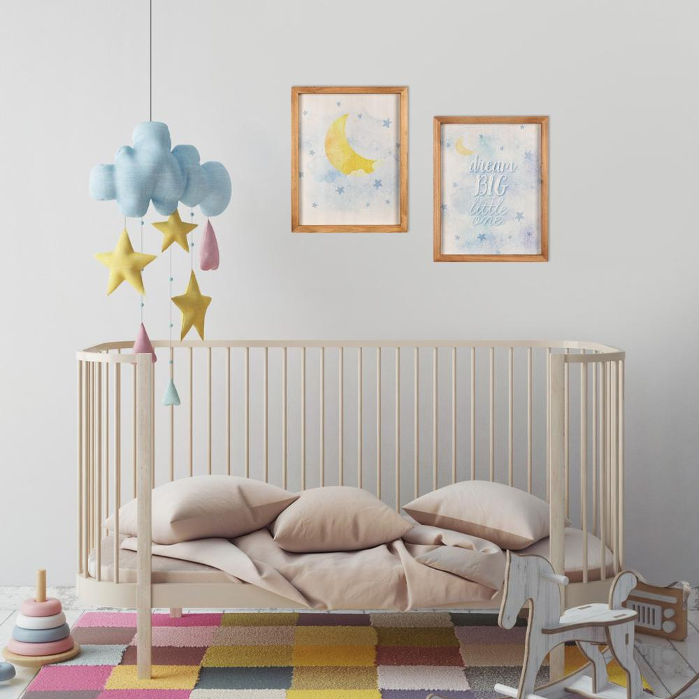 Dream Big Little One Wooden Wall Art Set - 383257. Picture 2