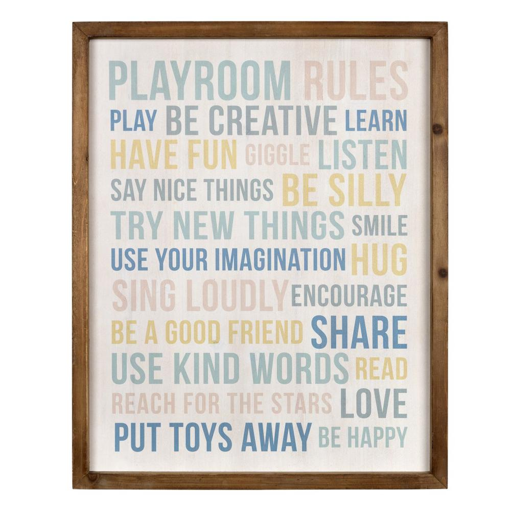 Playroom Rules Wooden Wall Art - 383261. Picture 1