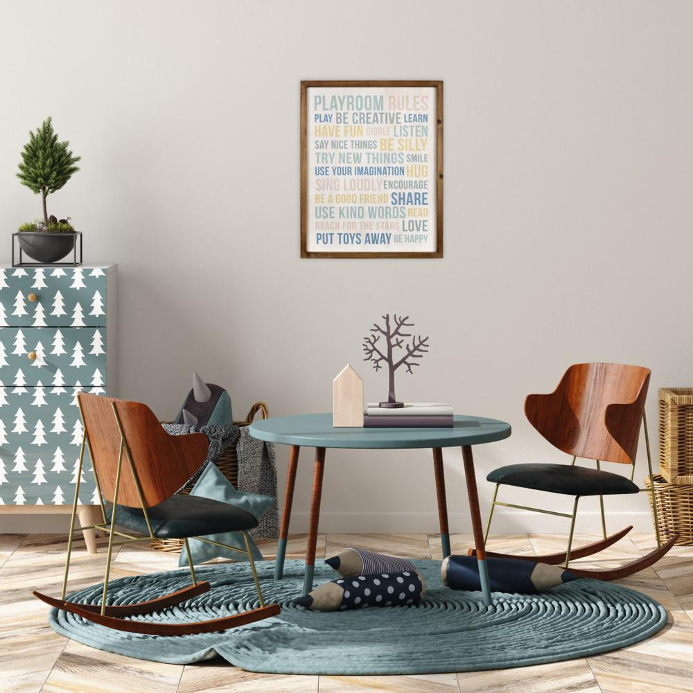 Playroom Rules Wooden Wall Art - 383261. Picture 2