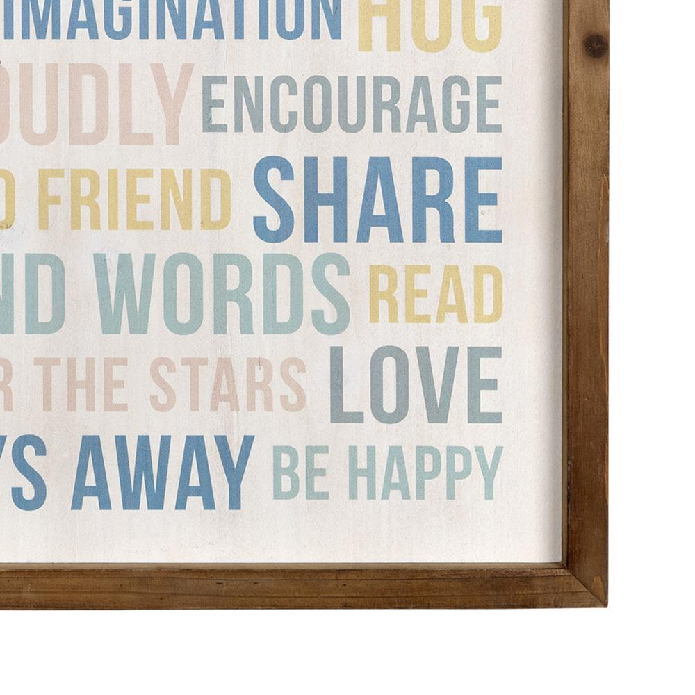 Playroom Rules Wooden Wall Art - 383261. Picture 3