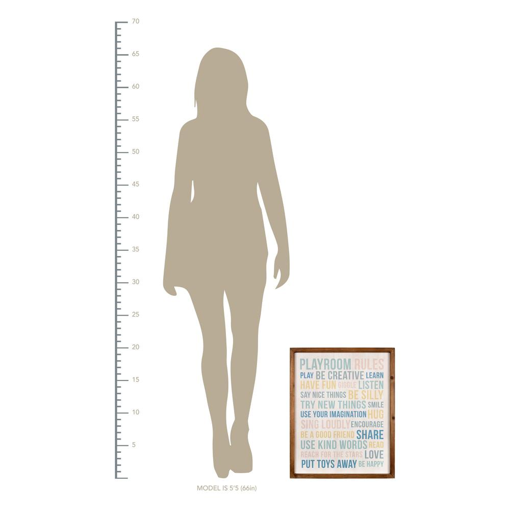 Playroom Rules Wooden Wall Art - 383261. Picture 4