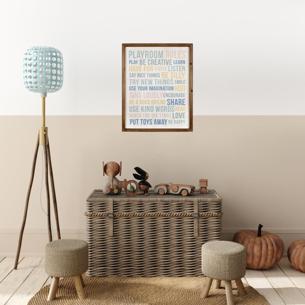 Playroom Rules Wooden Wall Art - 383261. Picture 6