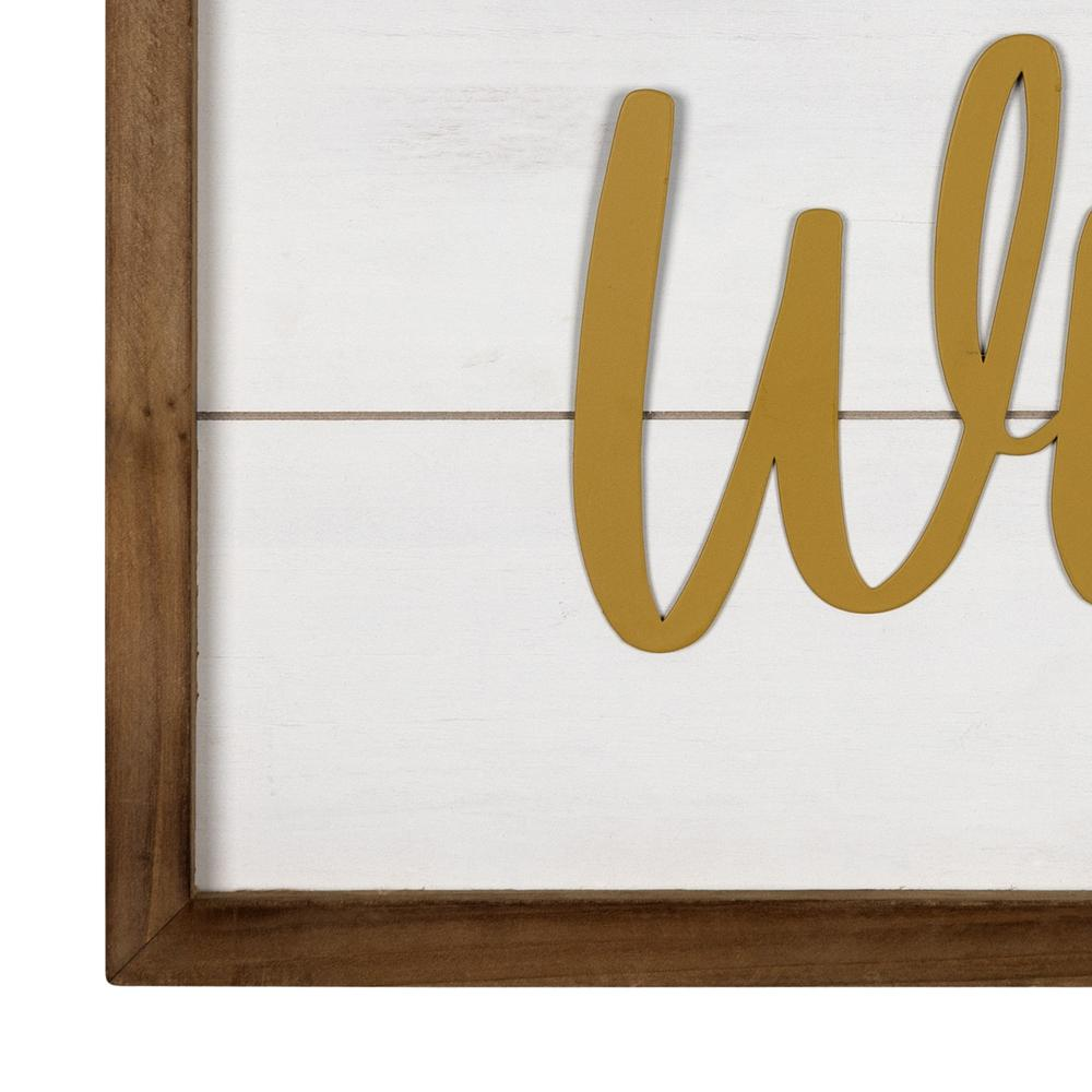 White and Gold Stay Wild Wall Art - 383262. Picture 3