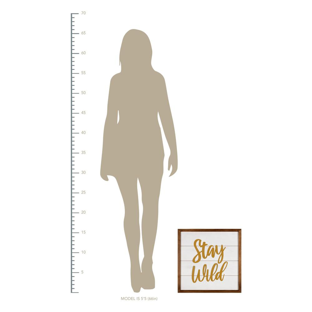 White and Gold Stay Wild Wall Art - 383262. Picture 4