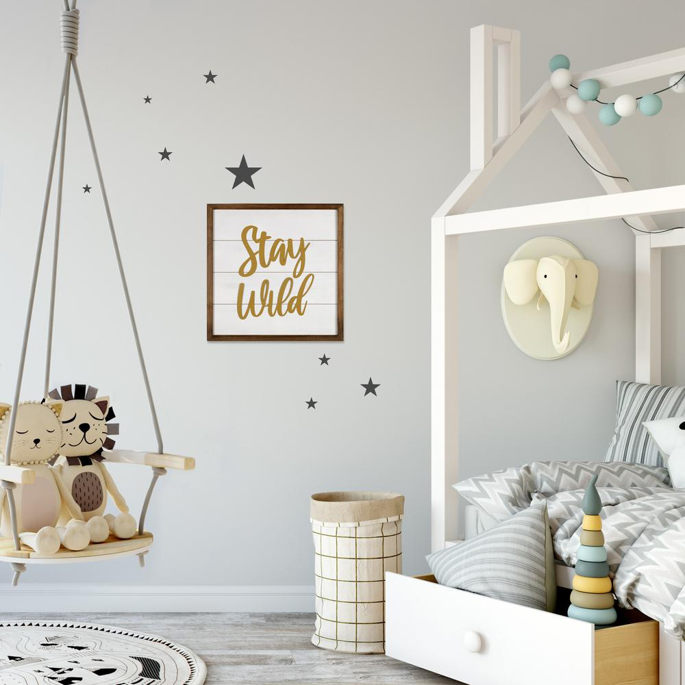 White and Gold Stay Wild Wall Art - 383262. Picture 6