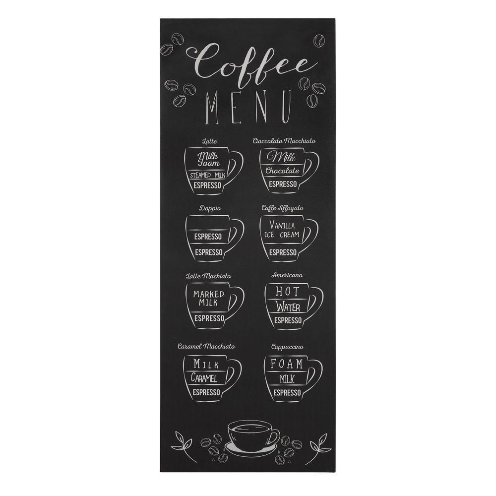 Coffee Menu Monochromatic Wall Art - 383274. Picture 1