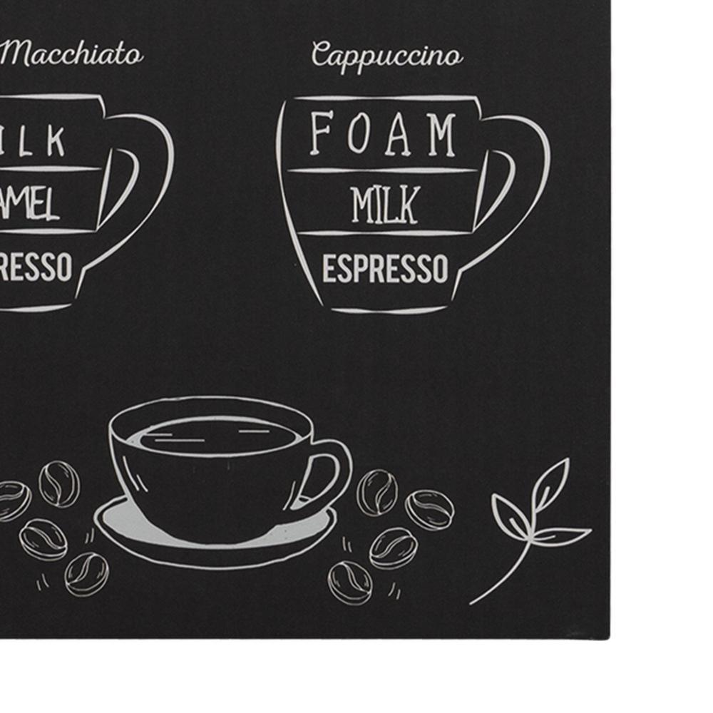 Coffee Menu Monochromatic Wall Art - 383274. Picture 3