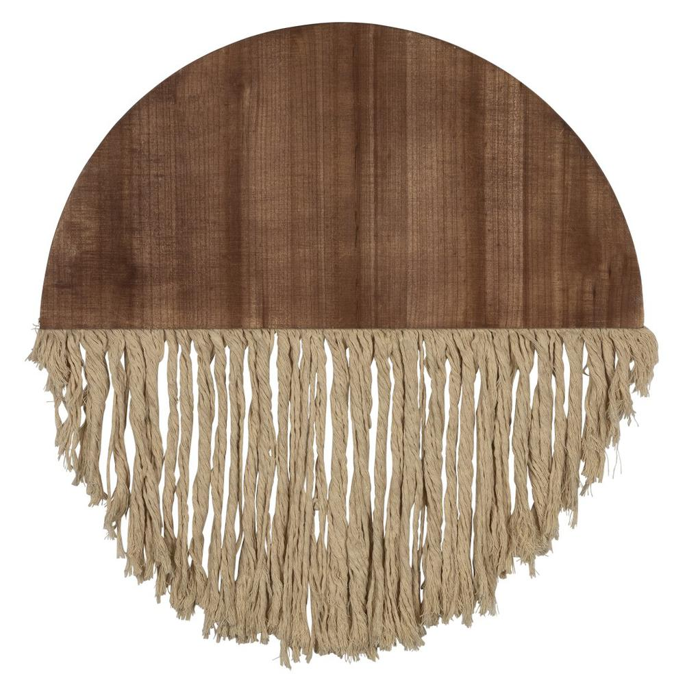 Semi Circle Macrame Wooden Wall Décor - 383277. Picture 1