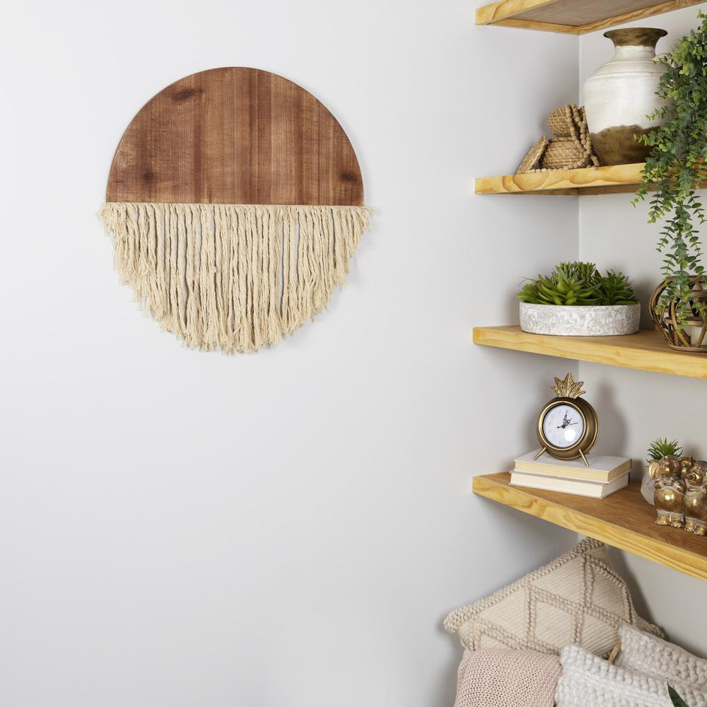Semi Circle Macrame Wooden Wall Décor - 383277. Picture 2