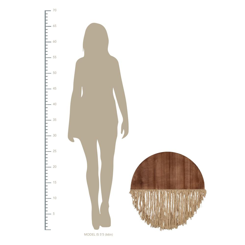 Semi Circle Macrame Wooden Wall Décor - 383277. Picture 4
