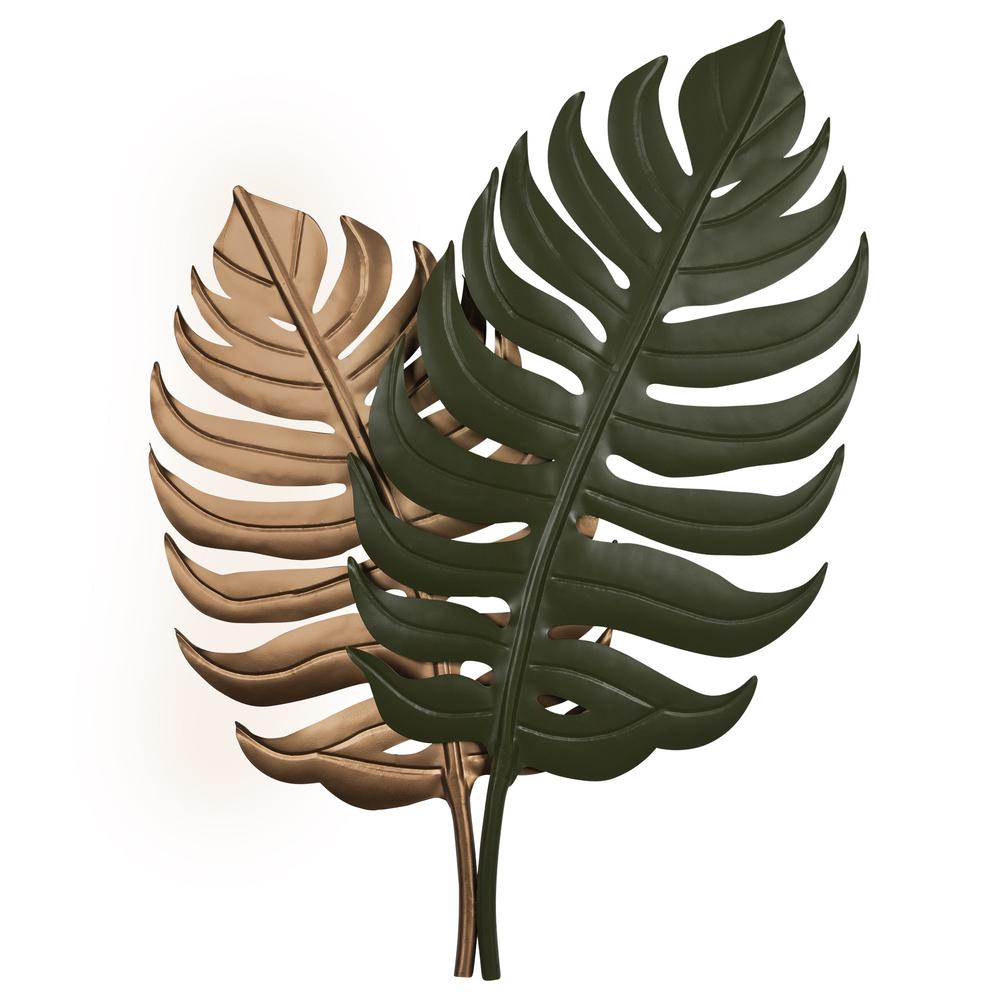 Copper and Green Botanical Wall Décor - 383278. Picture 1