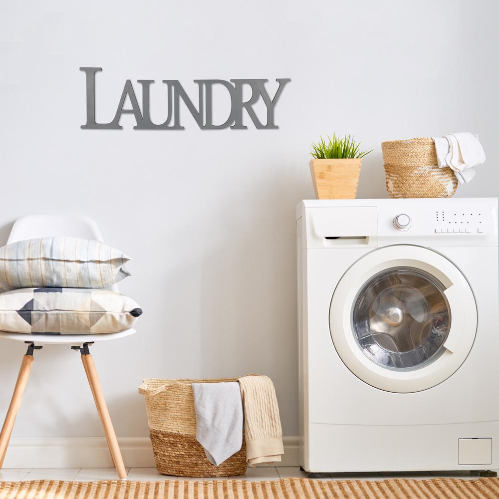 Gray Laundry Wooden Wall Décor - 383281. Picture 2
