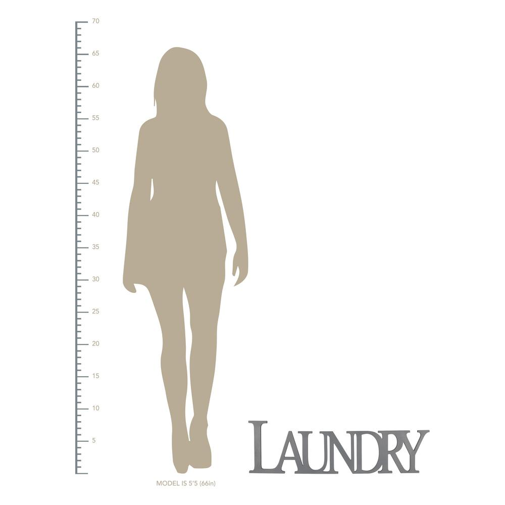 Gray Laundry Wooden Wall Décor - 383281. Picture 4