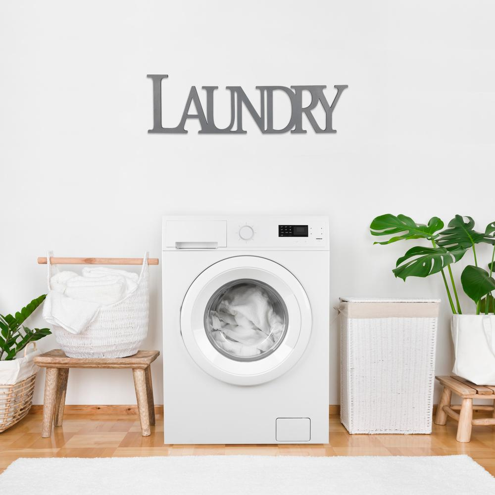 Gray Laundry Wooden Wall Décor - 383281. Picture 6