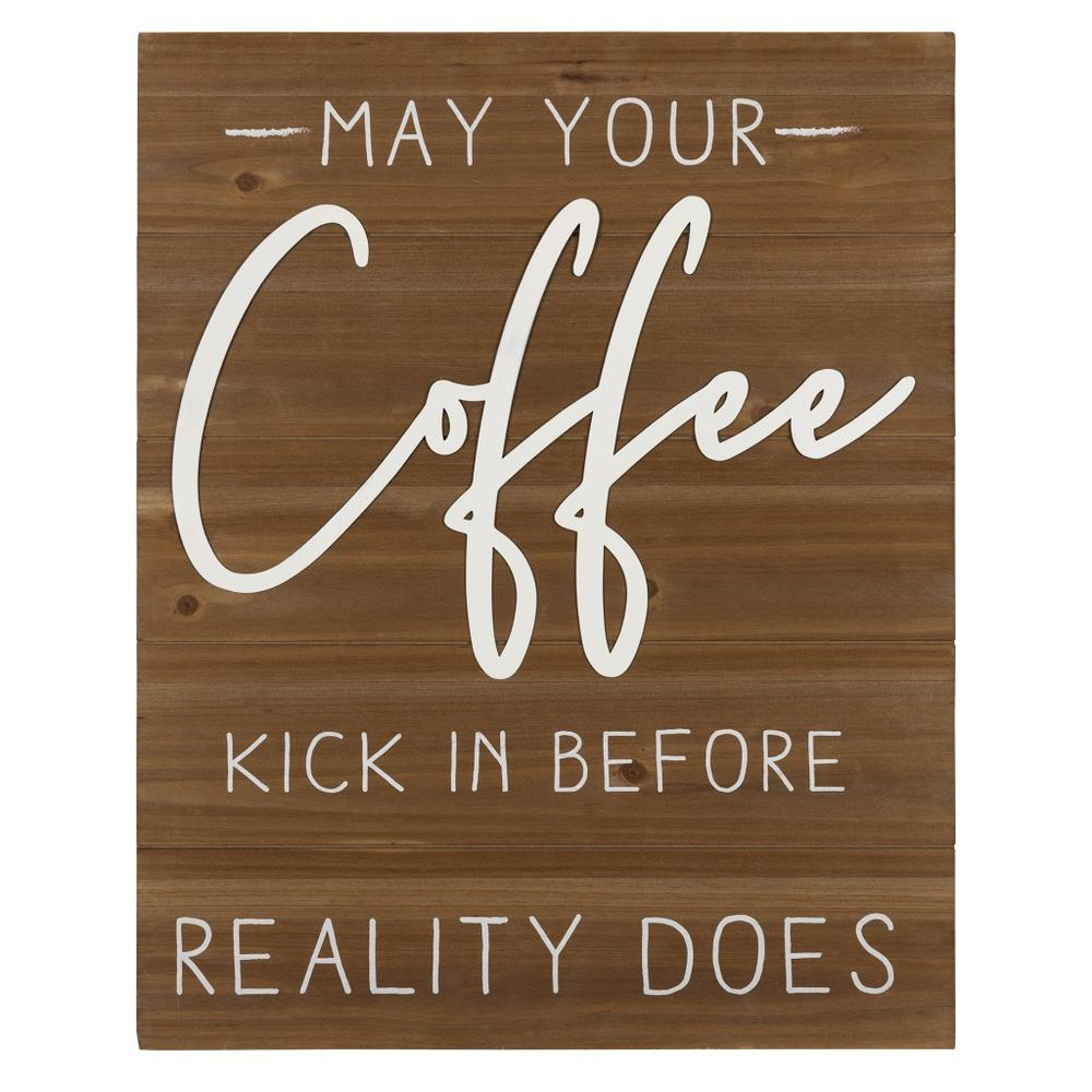 May Your Coffee Kick Wooden Wall Art - 383282. Picture 1