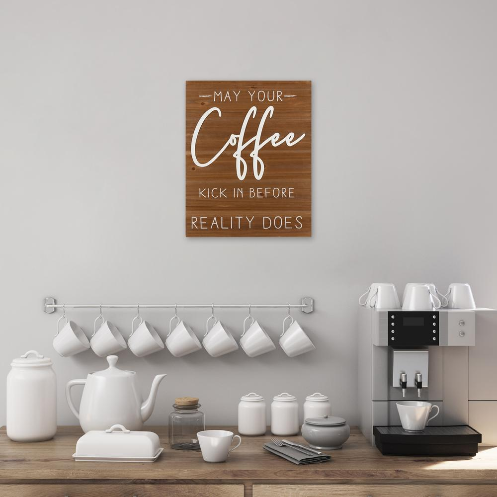 May Your Coffee Kick Wooden Wall Art - 383282. Picture 2