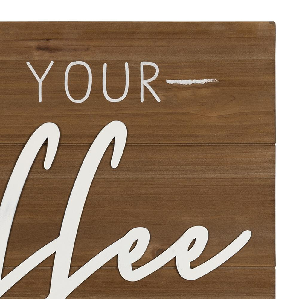 May Your Coffee Kick Wooden Wall Art - 383282. Picture 3
