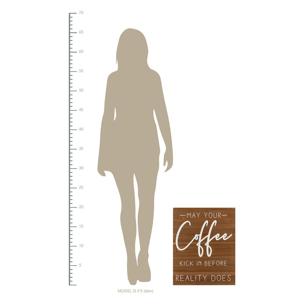 May Your Coffee Kick Wooden Wall Art - 383282. Picture 4