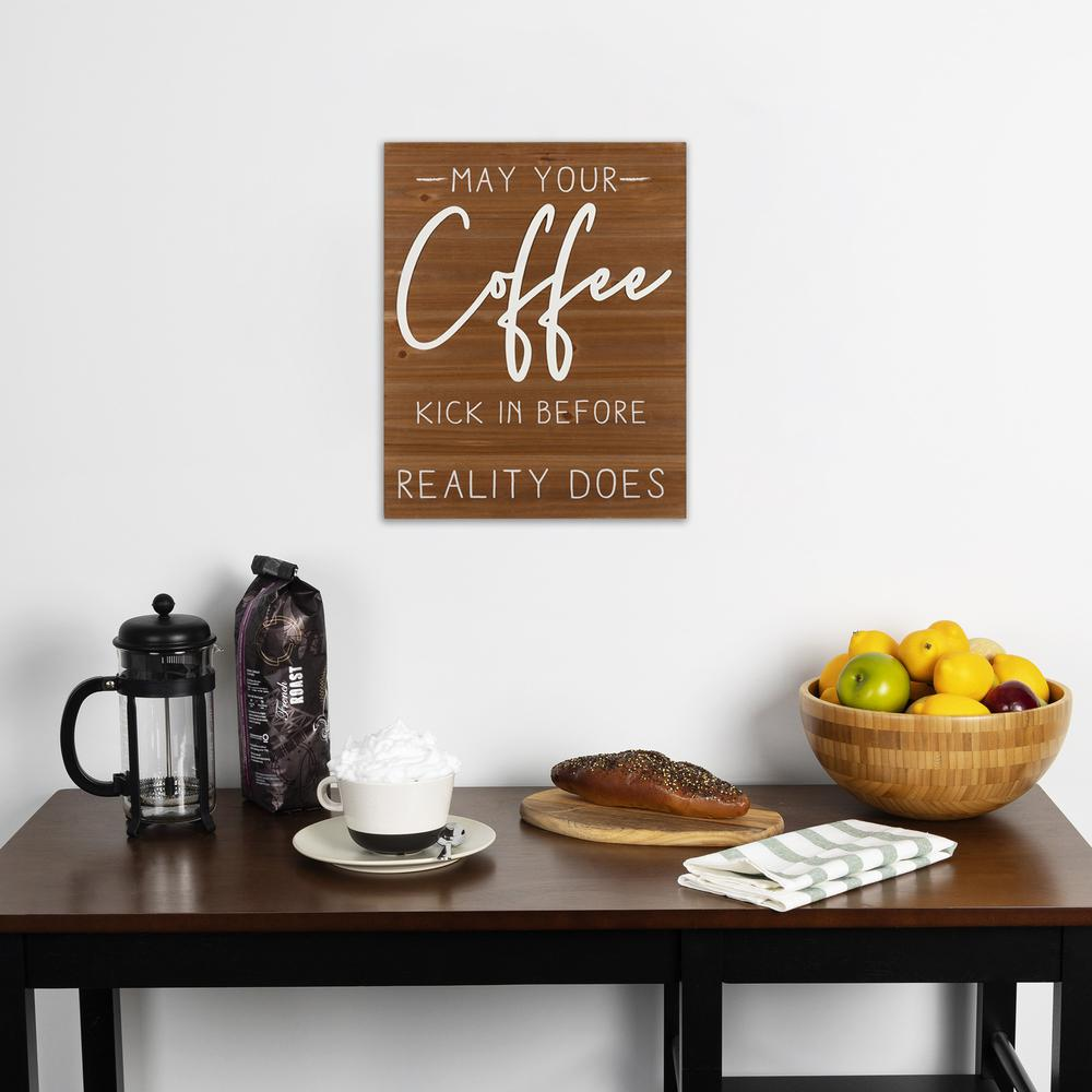 May Your Coffee Kick Wooden Wall Art - 383282. Picture 6