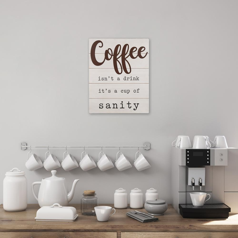 Coffee is a Cup of Sanity Wooden Wall Art - 383283. Picture 2