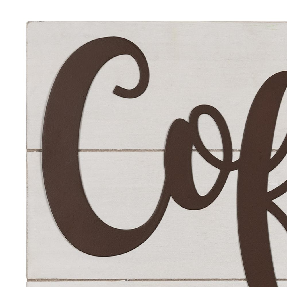 Coffee is a Cup of Sanity Wooden Wall Art - 383283. Picture 3