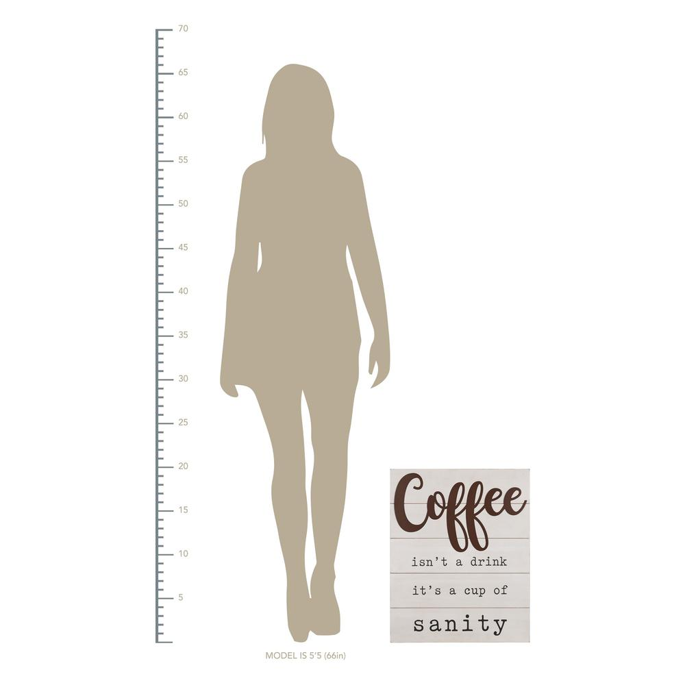 Coffee is a Cup of Sanity Wooden Wall Art - 383283. Picture 4