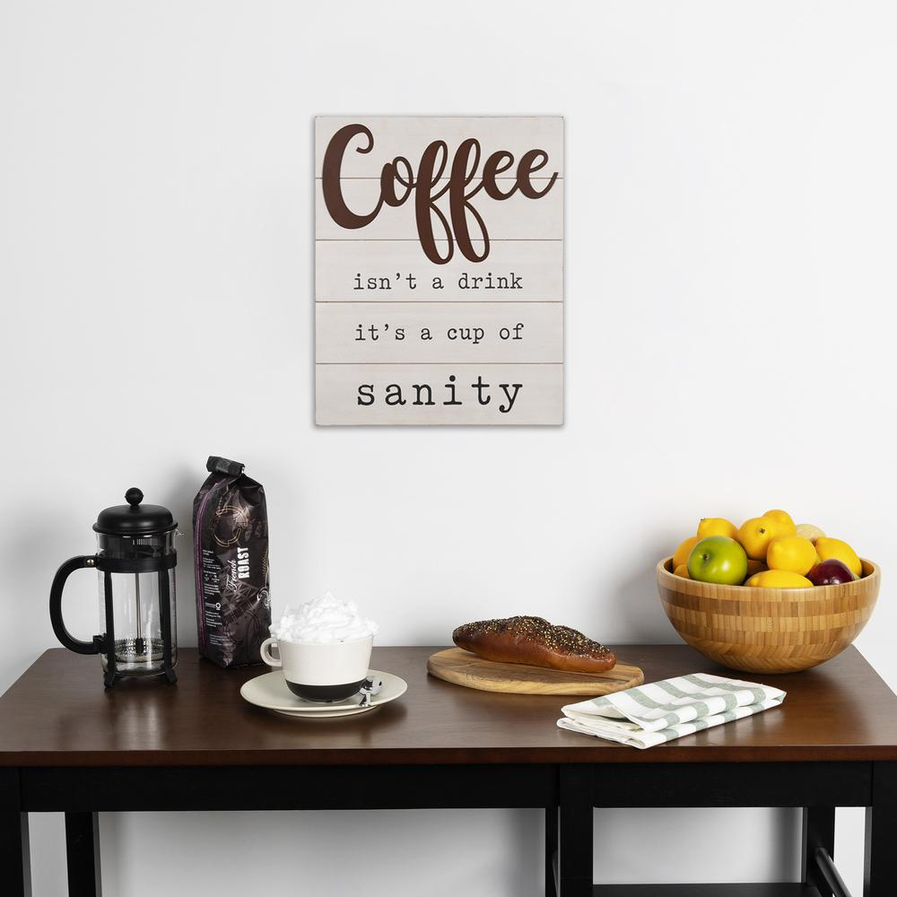 Coffee is a Cup of Sanity Wooden Wall Art - 383283. Picture 6