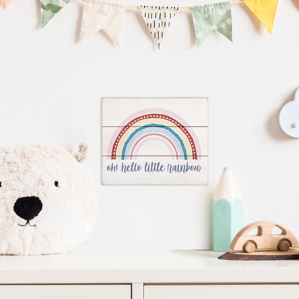 Hello Little Rainbow Wall Art - 383286. Picture 6