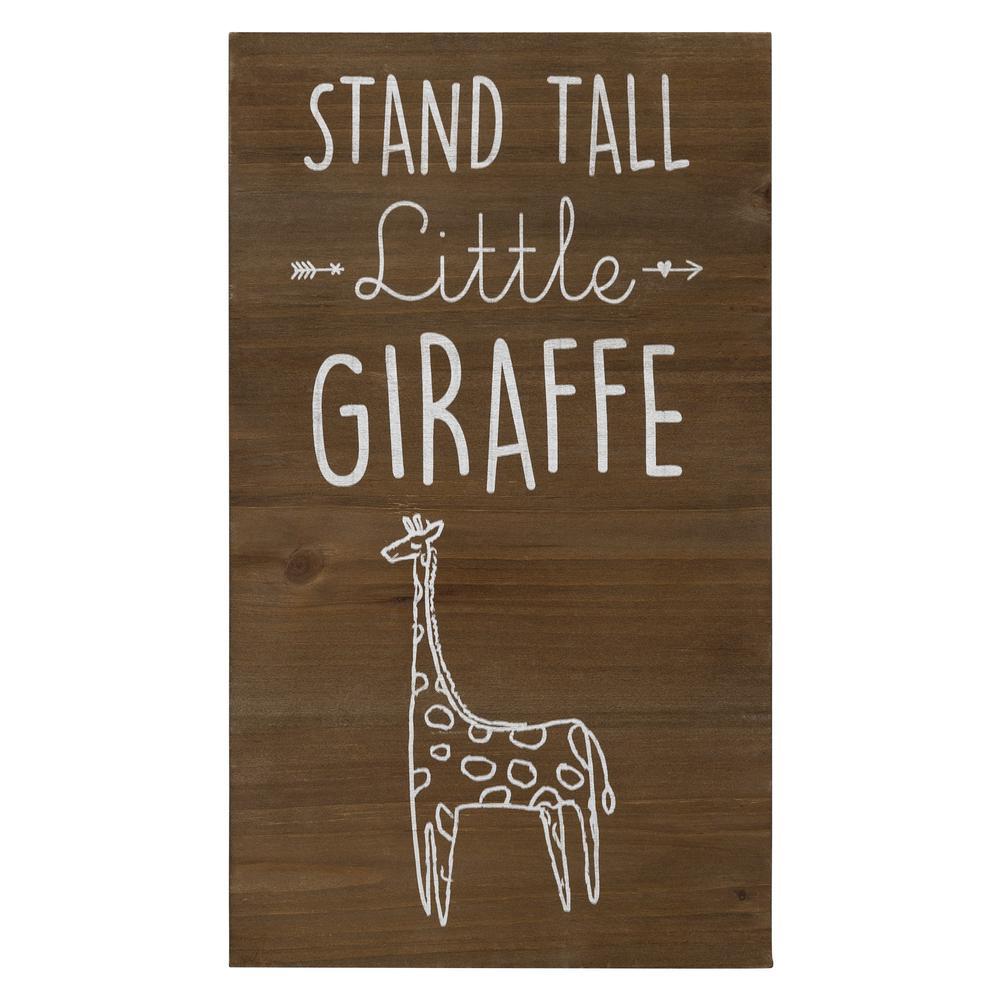 Stand Tall Wooden Giraffe Wall Art - 383287. Picture 1