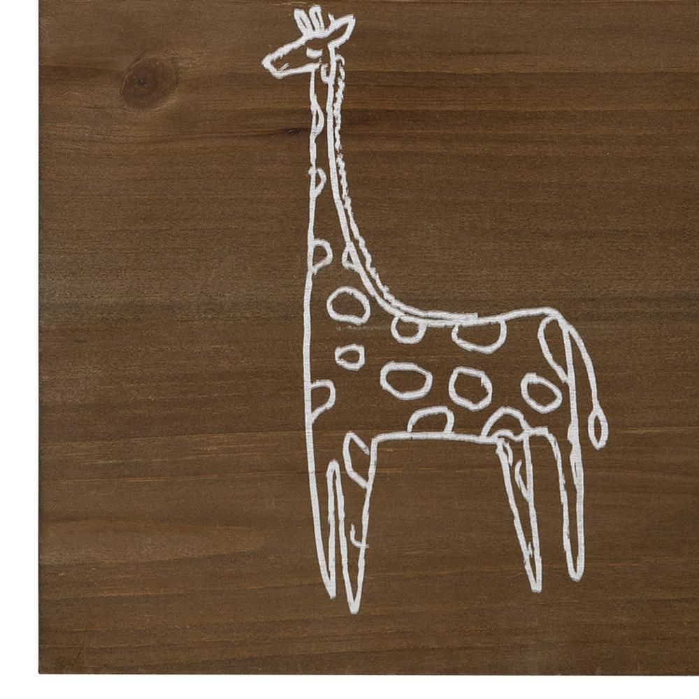 Stand Tall Wooden Giraffe Wall Art - 383287. Picture 3